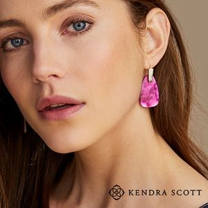 Kendra Scott Pink Mother of Pearl Silver